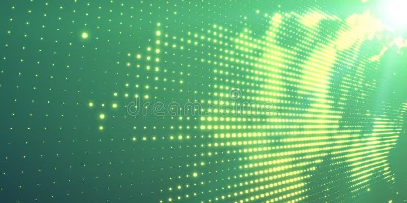Abstracte vectorachtergrond met glanzende neonlichten Neonteken met abstract beeld in perspectief royalty-vrije illustratie