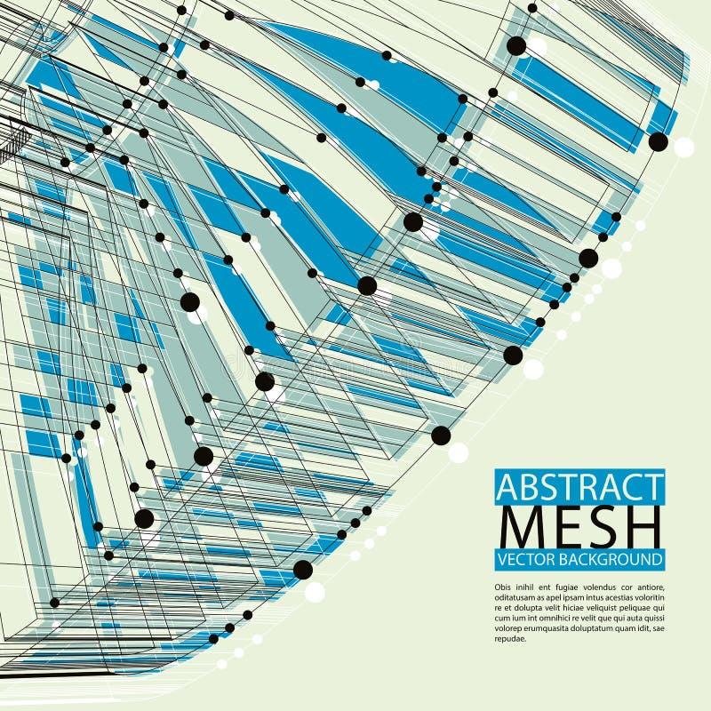 Abstracte vectorachtergrond, moderne stijltechnologie en wetenschap royalty-vrije illustratie