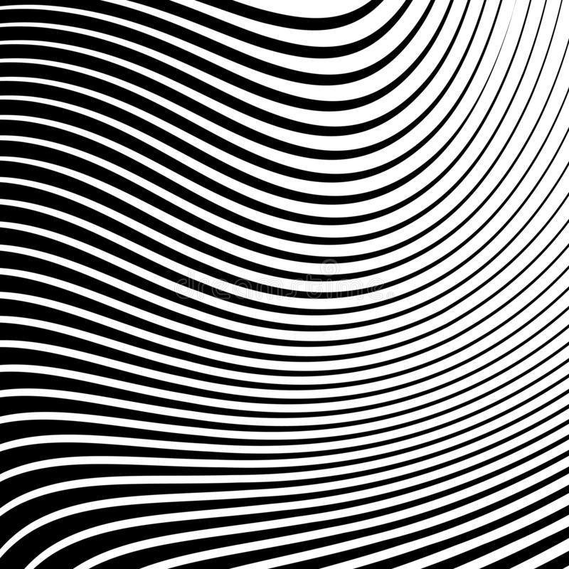 Abstracte vectorachtergrond van golven royalty-vrije illustratie