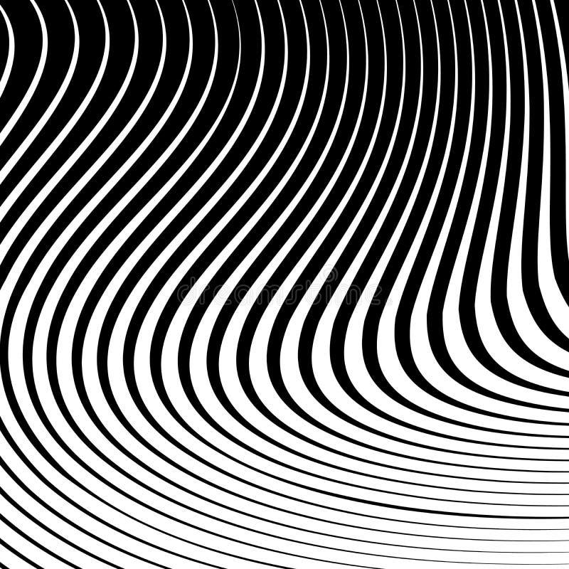 Abstracte vectorachtergrond van golven stock illustratie