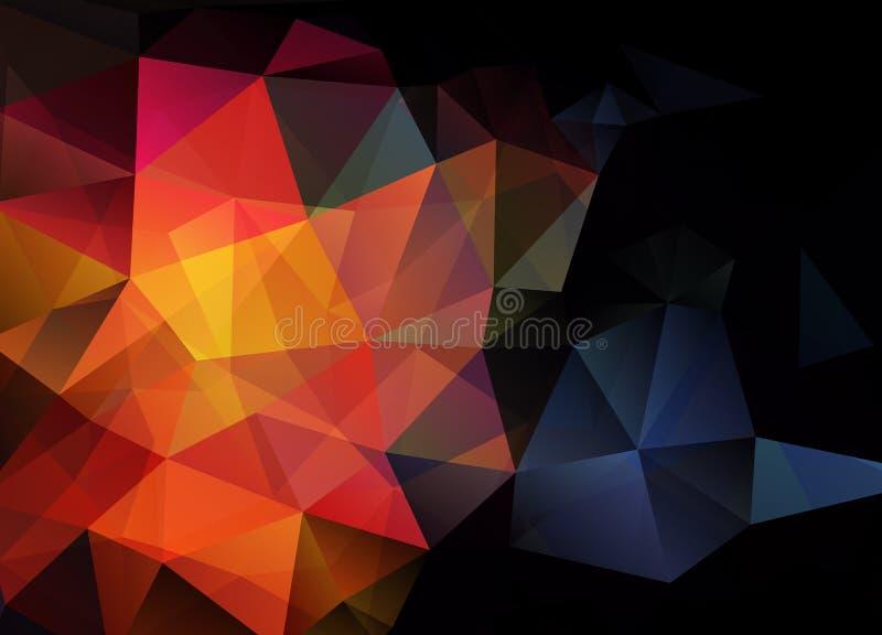 Abstracte vectorachtergrond van het behang van de driehoekenveelhoek Web D stock illustratie