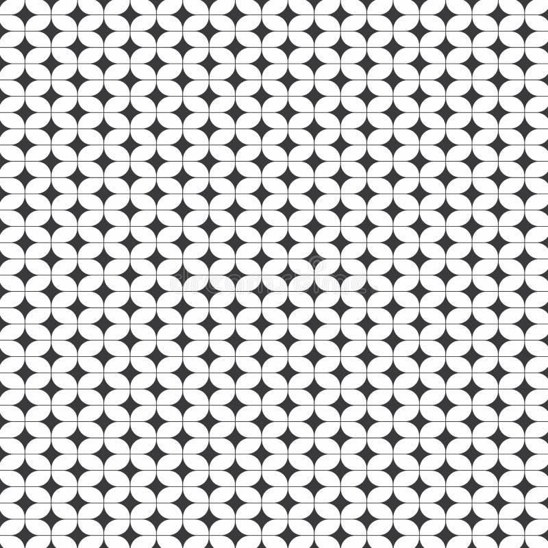 Abstracte vectorachtergrond van ovaal vorm en sterpatroon royalty-vrije illustratie