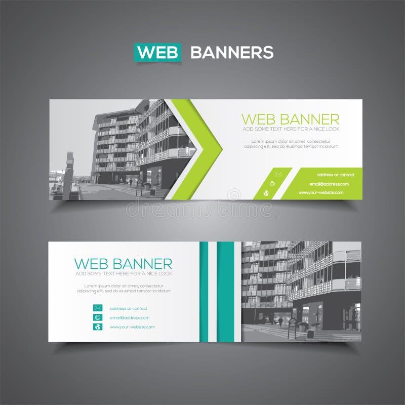 Abstracte vectorbanner voor van de Webmalplaatje of druk gebruik als kopbalachtergrond royalty-vrije illustratie