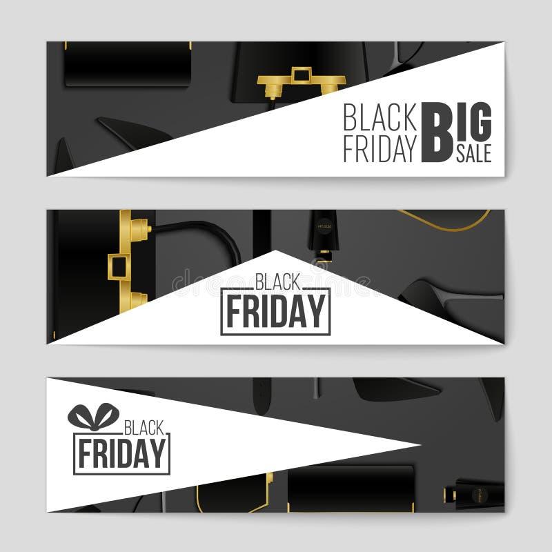 Abstracte vectorblack friday-lay-outachtergrond Voor creatief kunstontwerp, lijst, pagina, de stijl van het modelthema, banner, c stock illustratie