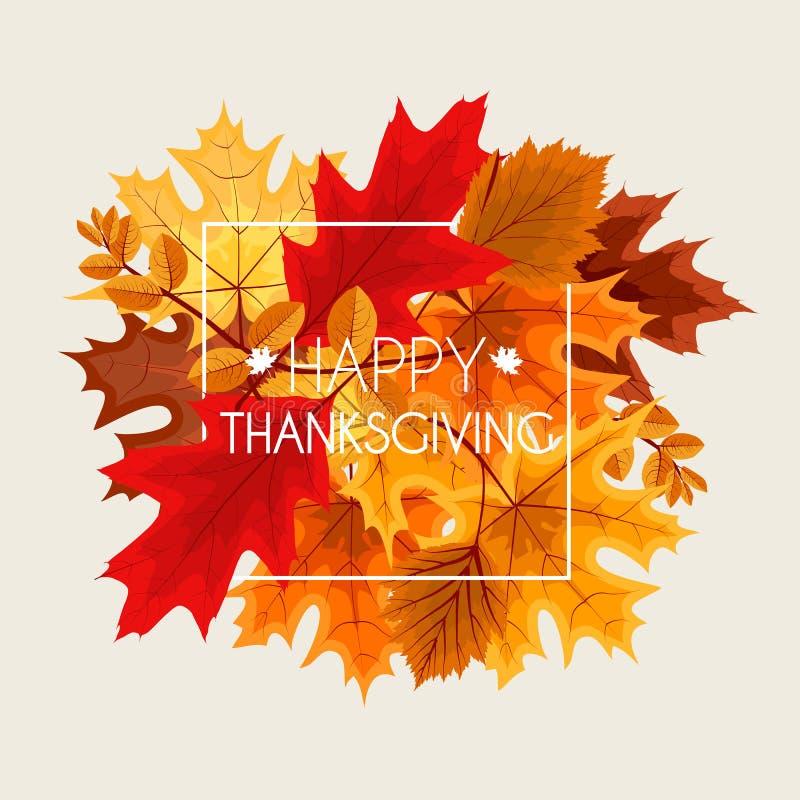 Abstracte Vectorillustratie Autumn Happy Thanksgiving Background stock illustratie