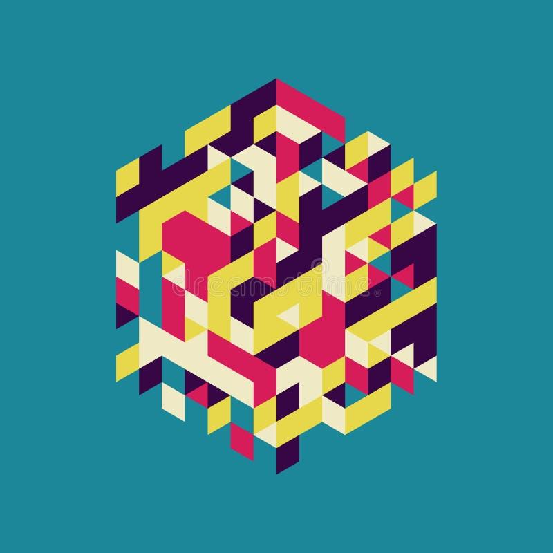 abstracte vectorillustratie Kan voor ontwerp en presentatie worden gebruikt stock illustratie