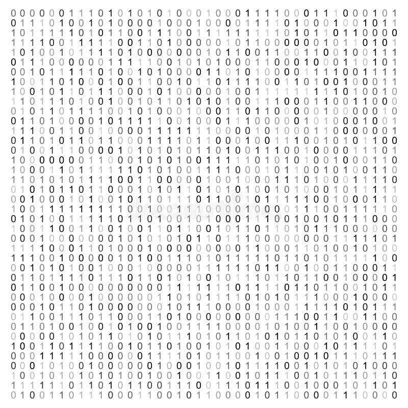 Abstracte vectorillustratie met binaire code Digitale technologische textuur vector illustratie