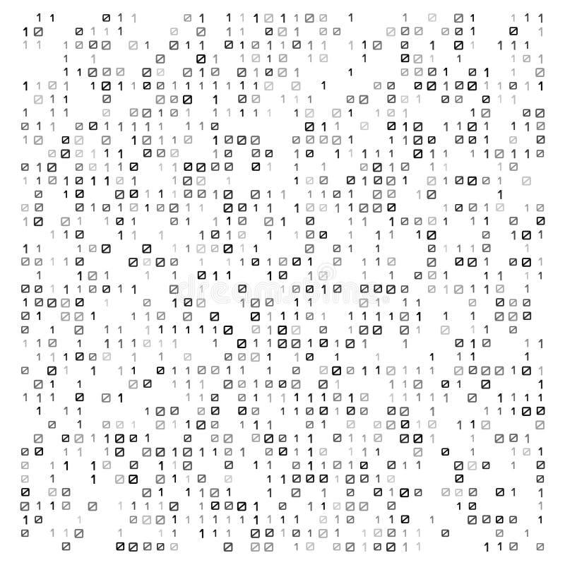 Abstracte vectorillustratie met binaire code Digitale technologische textuur royalty-vrije illustratie