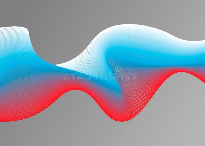 Abstracte Vectorillustratie met de vlag van Rusland in de vorm van golf royalty-vrije stock afbeelding