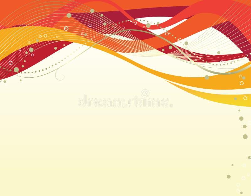 Abstracte vectorillustratie van gekleurde golven stock illustratie