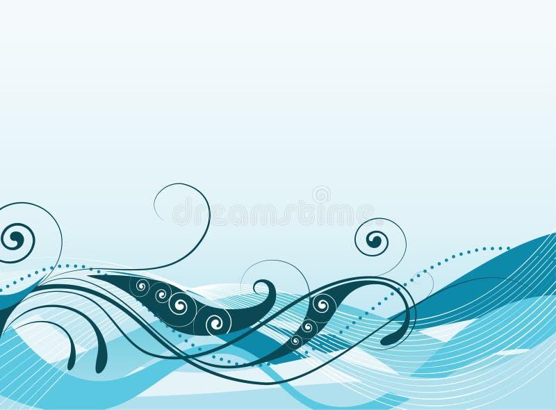 Abstracte vectorillustratie van gekleurde golven royalty-vrije stock fotografie