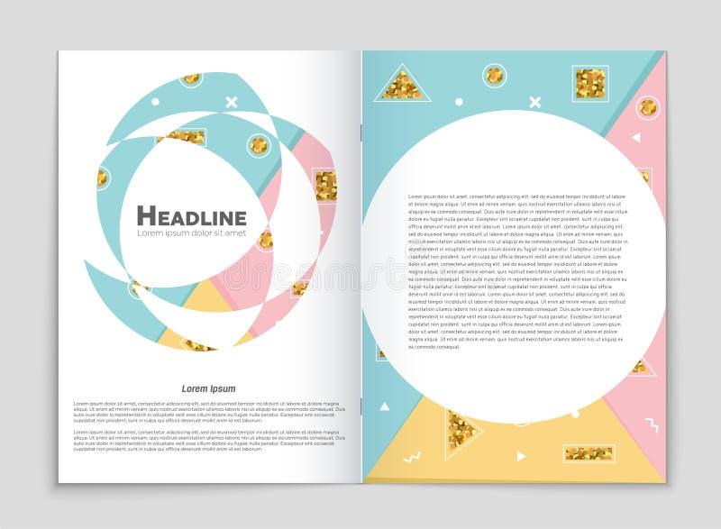 Abstracte vectorlay-outreeks als achtergrond Voor het ontwerp van het kunstmalplaatje, lijst, voorpagina, het themastijl van de m stock illustratie