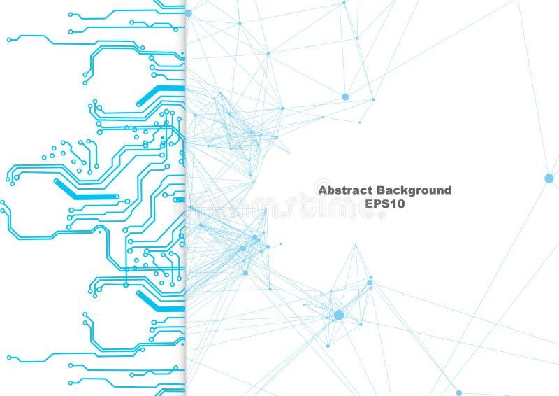 Abstracte vectornetwerk en kringsverbindingsachtergrond Illustratie vectorontwerp vector illustratie