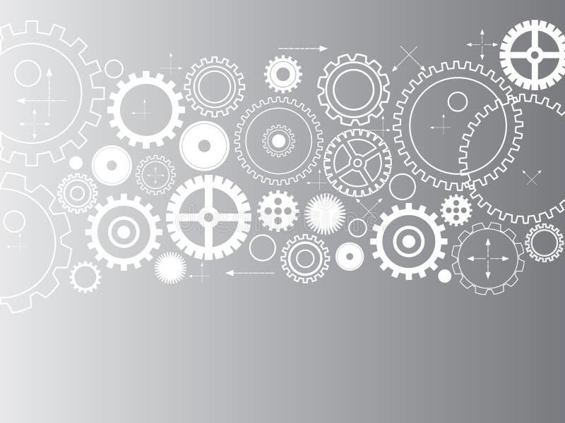 Abstracte vectorradertjes - toestellen op grijze achtergrond