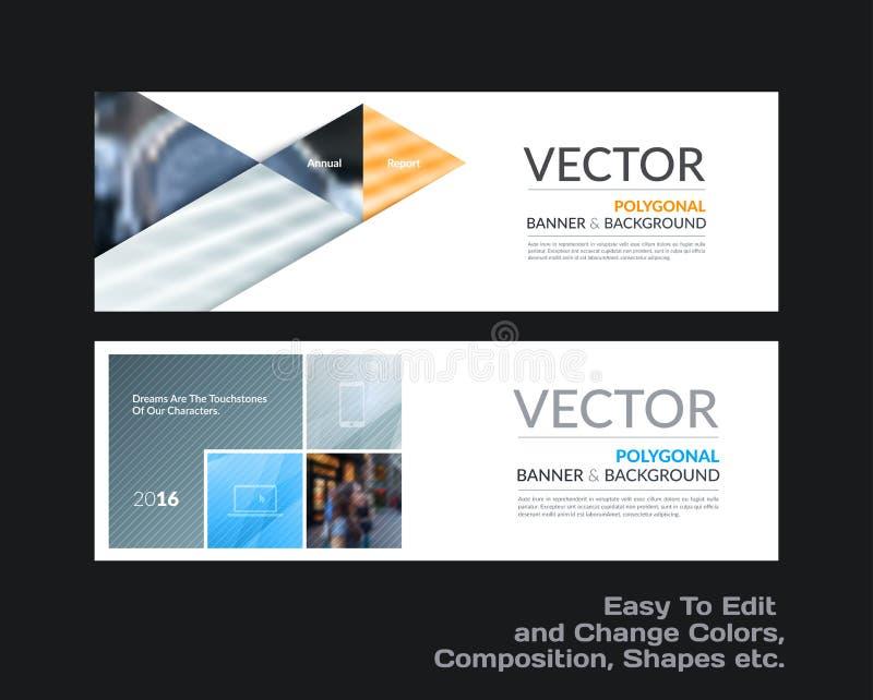 Abstracte vectorreeks moderne horizontale websitebanners met mede royalty-vrije illustratie
