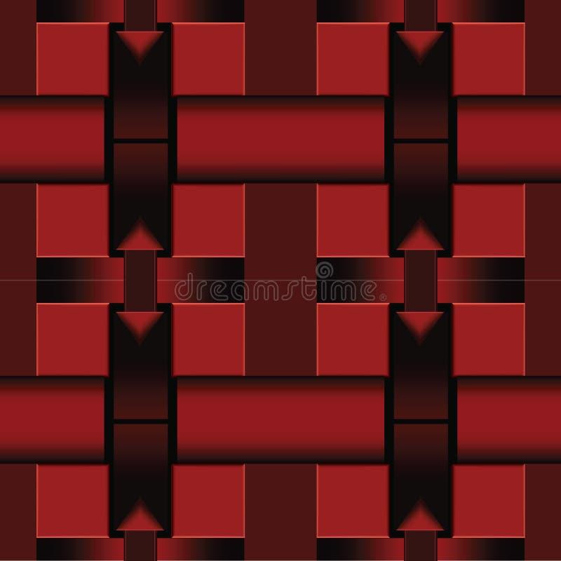 Abstracte vectorvierkantenachtergrond royalty-vrije illustratie