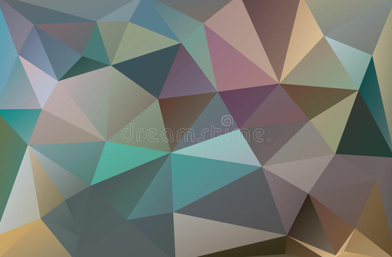 Abstracte veelhoekige achtergrond royalty-vrije illustratie