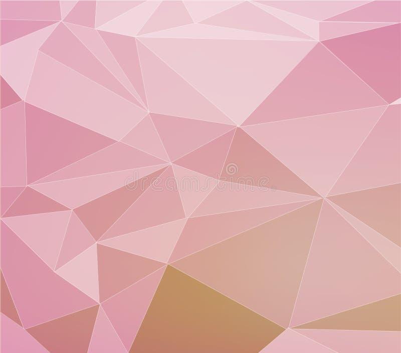 Abstracte veelhoekige achtergrond stock illustratie