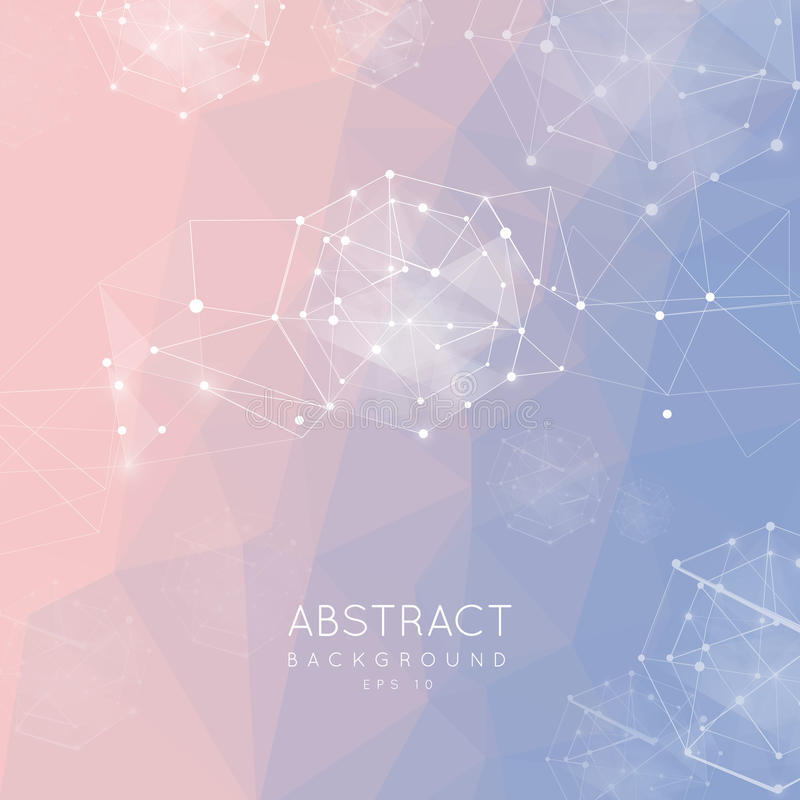 Abstracte veelhoekige achtergrond Het lage polyontwerp verbinden stippelt a vector illustratie