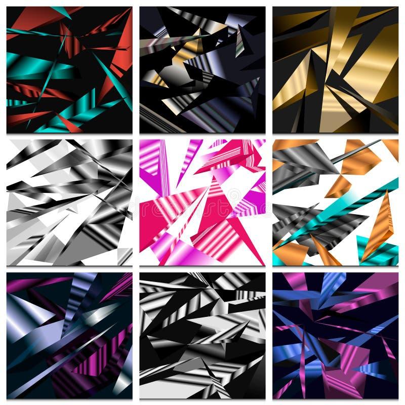 Abstracte veelhoekige achtergrond, naadloos patroon, driehoekenmozaïek, geometrische textuur, adreskaartje voor de website royalty-vrije illustratie