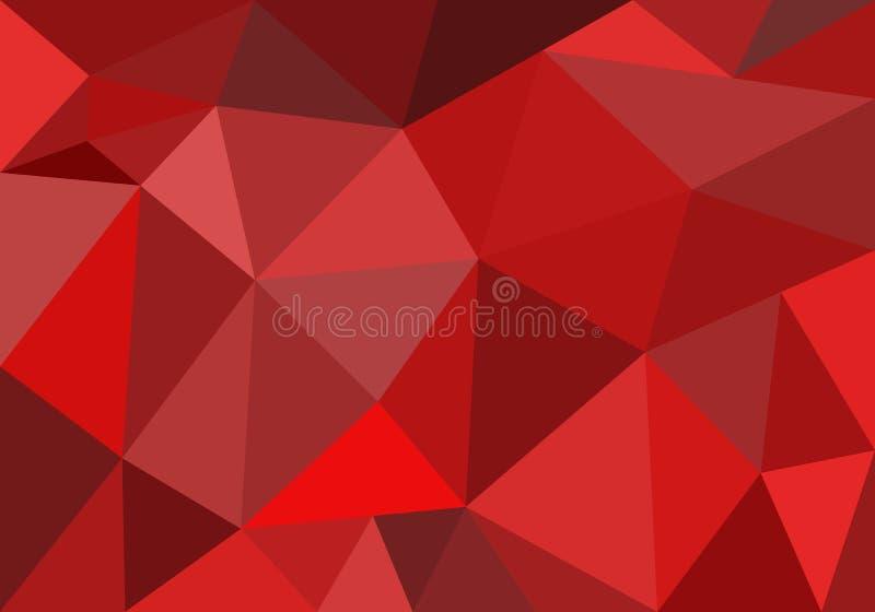 Abstracte veelhoekige achtergrond voor behangpapier, achtergrond, banner, sjabloon, illustratie, stof en andere toepassingen Rood royalty-vrije illustratie
