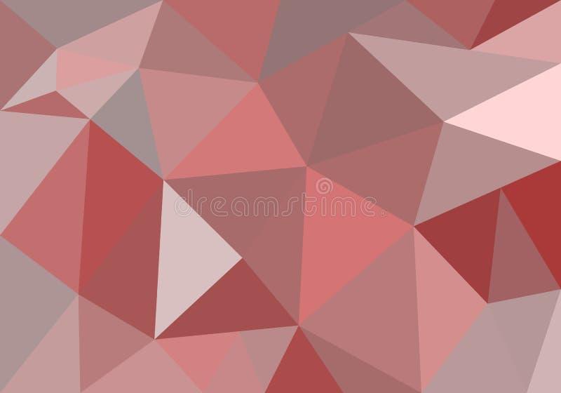 Abstracte veelhoekige achtergrond voor behangpapier, achtergrond, banner, sjabloon, illustratie, stof en andere toepassingen Rood stock illustratie