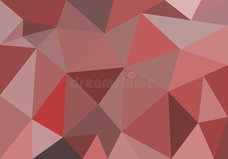 Abstracte veelhoekige achtergrond voor behangpapier, achtergrond, banner, sjabloon, illustratie, stof en andere toepassingen Rood vector illustratie