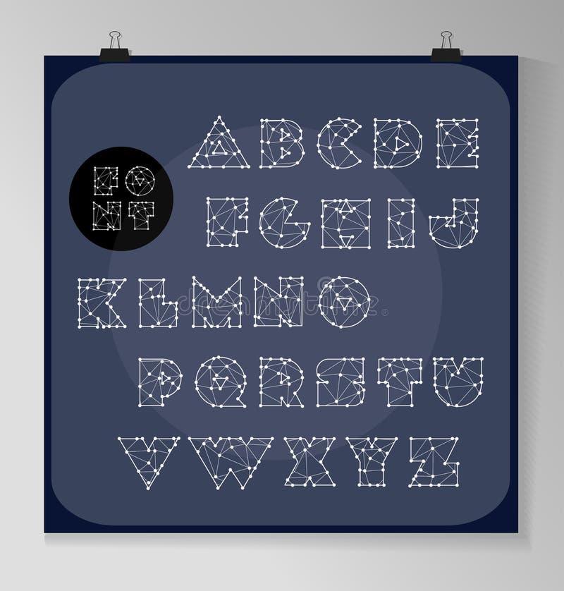 Abstracte veelhoekige brief in Kosmische stijl stock illustratie