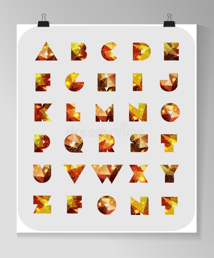 Abstracte veelhoekige brief in Kosmische stijl vector illustratie