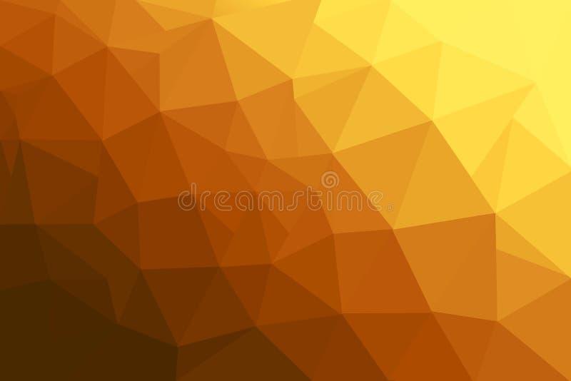 Abstracte veelhoekige moza?ekachtergrond Oranje Veelhoekachtergrond vector illustratie