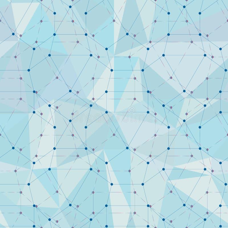 Abstracte veelhoekige naadloze achtergrond met het verbinden van punten en lijnen Het concept van de aansluting royalty-vrije illustratie
