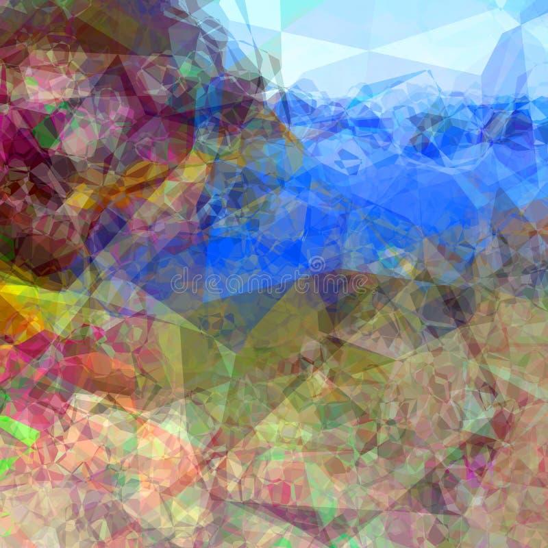 Abstracte Veelhoekige Oppervlakte vector illustratie