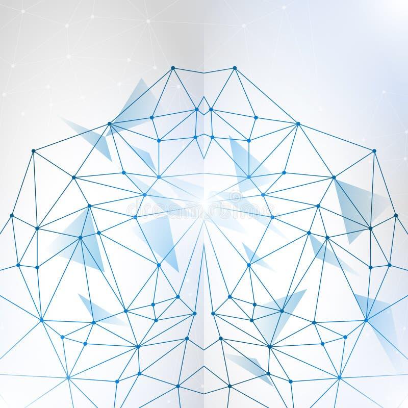 Abstracte veelhoekige ruimte lage polyachtergrond stock illustratie