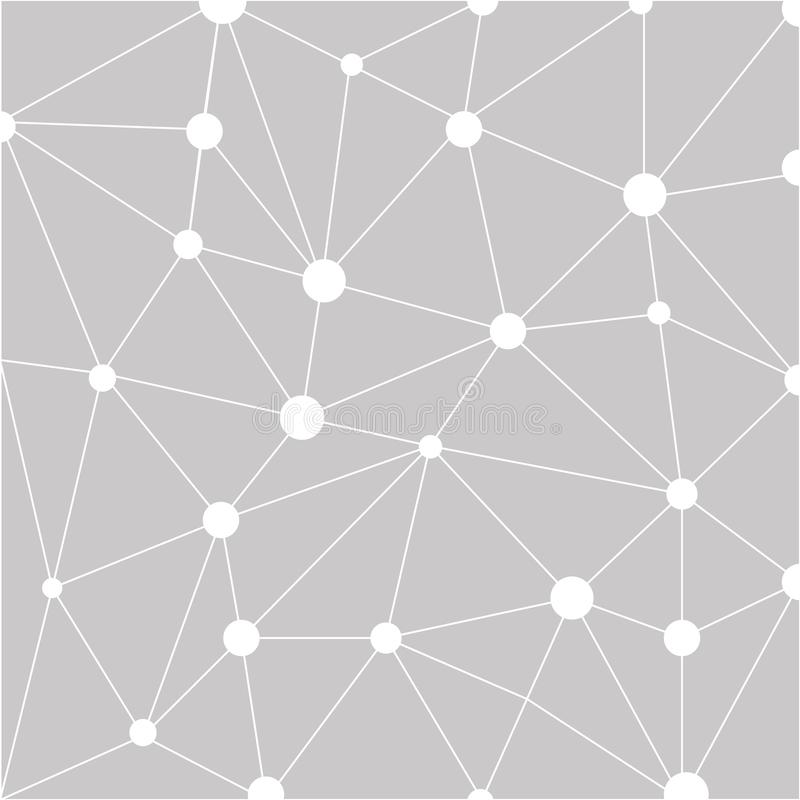 Abstracte veelhoekige ruimteachtergrond met het verbinden van punten en lijnen Grijze grafisch stock foto's