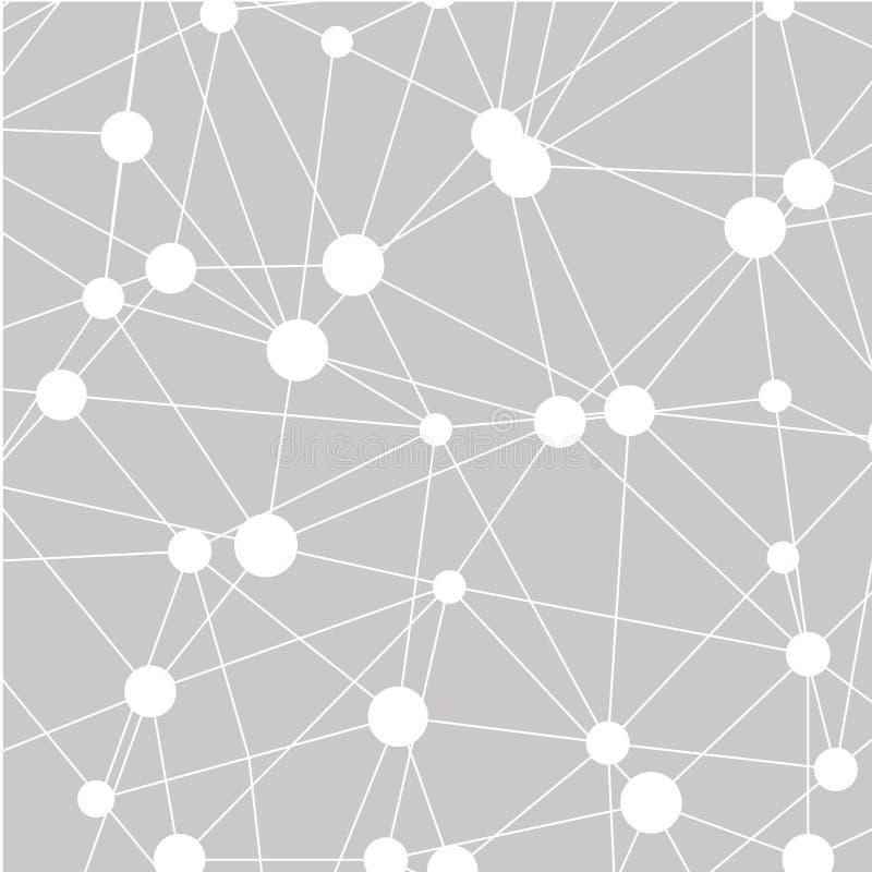 Abstracte veelhoekige ruimteachtergrond met het verbinden van punten en lijnen Grijze grafisch royalty-vrije stock afbeelding