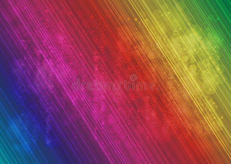 Abstracte veelkleurige lijn en halo background_01 stock illustratie