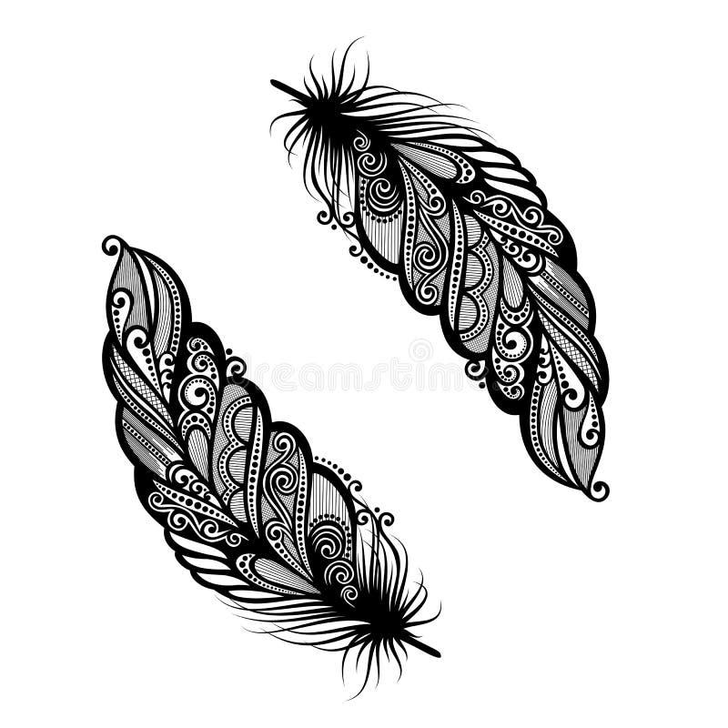 Abstracte veervogel vector illustratie