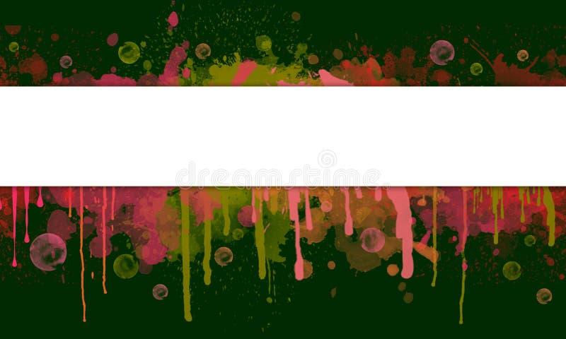 Abstracte Verfplons en Druppelbanner met Tekstruimte stock illustratie