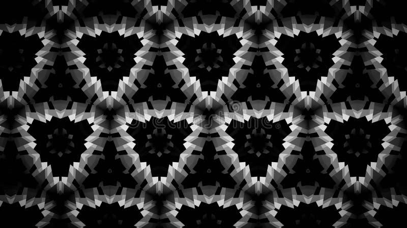 Abstracte verlichting die zwart-wit kleurenbehang charmeren stock illustratie