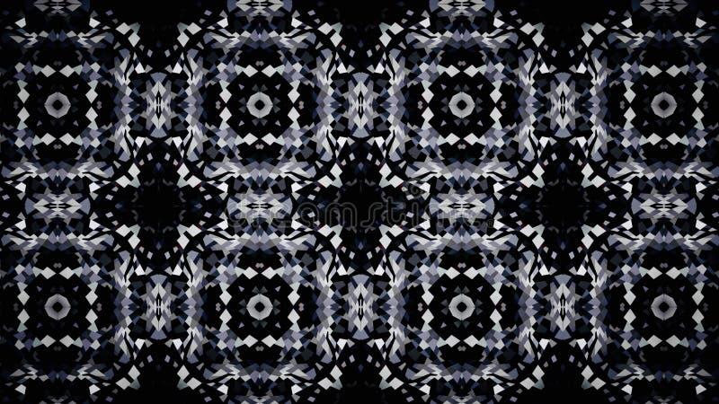 Abstracte verlichting die zwart-wit kleurenbehang charmeren vector illustratie
