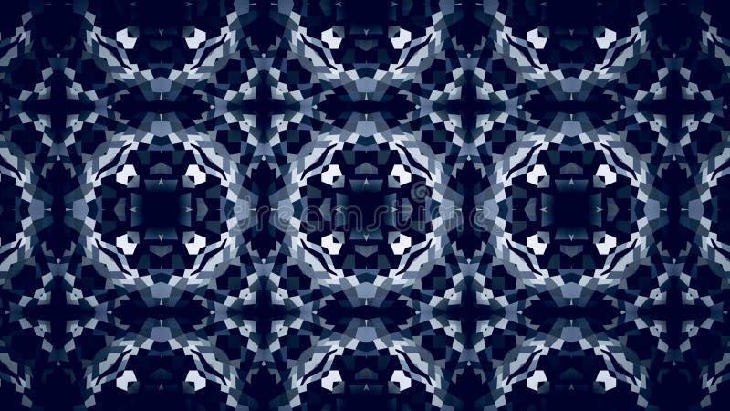 Abstracte verlichting die zwart-wit kleurenbehang charmeren royalty-vrije illustratie