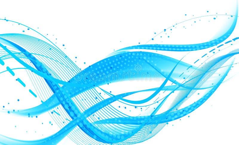 Abstracte verse blauwe achtergrond stock illustratie