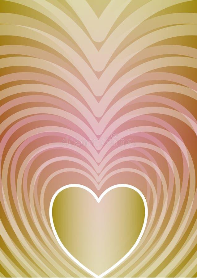 Abstracte verticale achtergrond met hartvorm in mooie pastelkleurgradiënt, vector illustratie