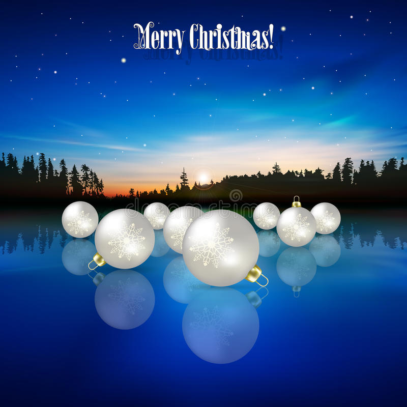 Abstracte vieringsachtergrond met Kerstmisdec stock illustratie
