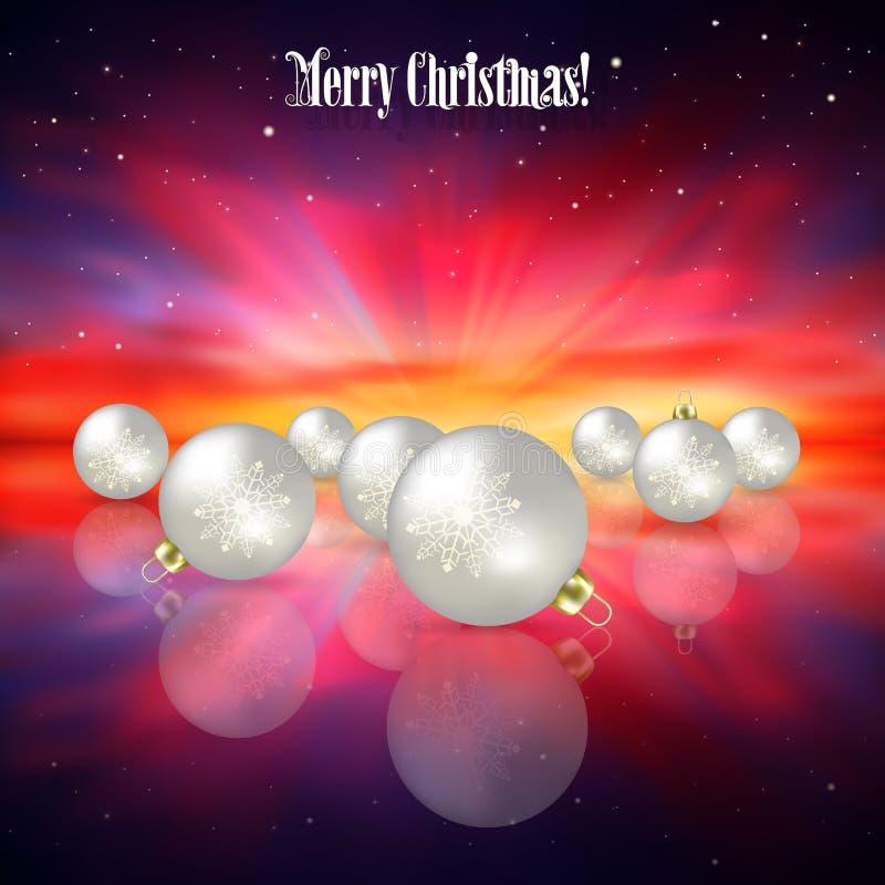 Abstracte vieringsachtergrond met Kerstmisdecoratie stock illustratie