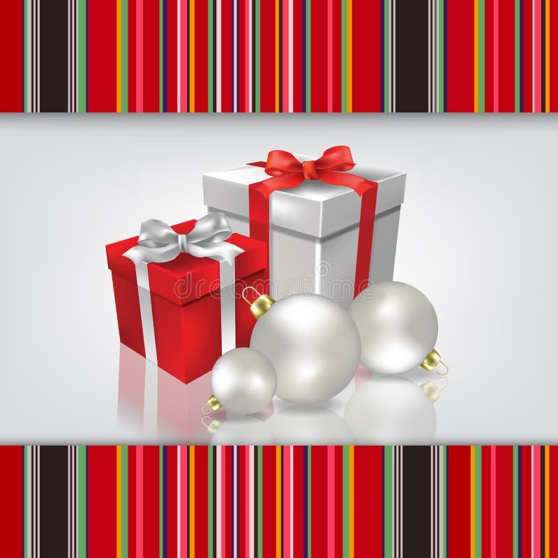 Abstracte vieringsachtergrond met Kerstmisgif stock afbeelding
