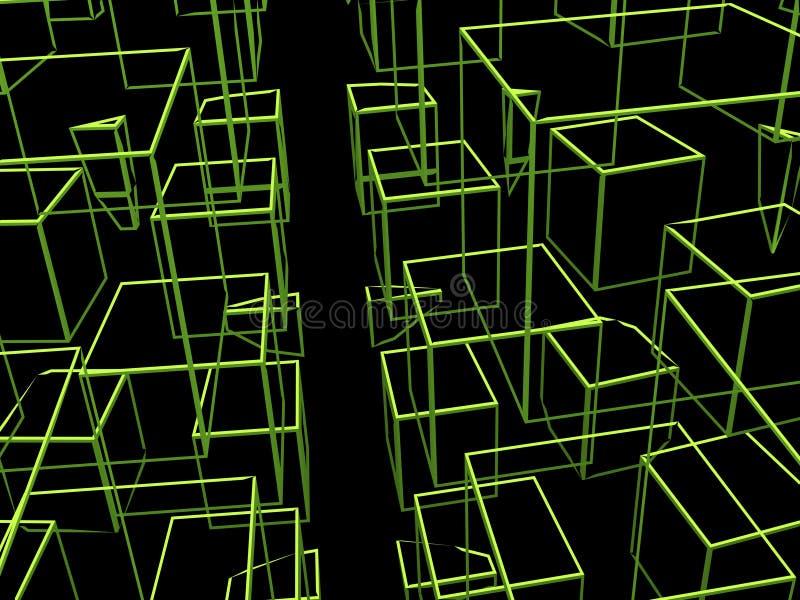 Abstracte Vierkanten vector illustratie