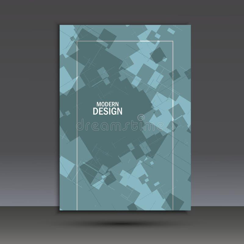 Abstracte Vierkanten op Blauwe Achtergrond Dit is dossier van EPS10-formaat royalty-vrije illustratie