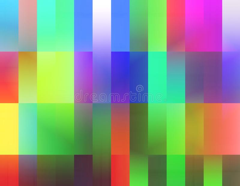 Abstracte vierkanten, regenboog levendige meetkunde, heldere achtergrond, kleurrijke meetkunde stock illustratie