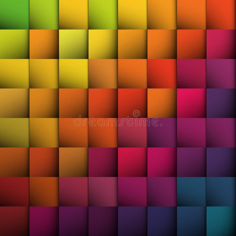 Abstracte vierkantenachtergrond. vector illustratie